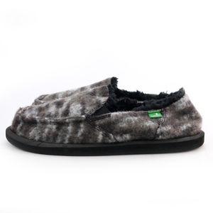 Sanuk Shoes - Sanuk Sidewalk Surfers Calichill Black Furry Shoes